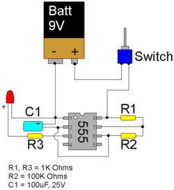 Circuit project: LED flasher circuit  Alek's Portfolio