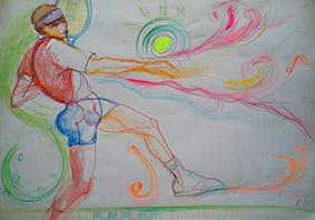 Art and Sport by Aleksandra Smiljkovic Vasovic aleksandraartworkcom