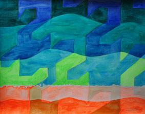Big Blue by Aleksandra Smiljkovic Vasovic aleksandraartworkcom