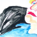 Contemplation-Watercolor-by Aleksandra Smiljkovic Vasovic aleksandraartworkcom