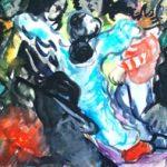 Dance-Watercolor-by Aleksandra Smiljkovic Vasovic aleksandraartworkcom
