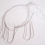 Elephant-Drawing-by Aleksandra Smiljkovic Vasovic aleksandraartworkcom