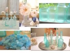 Sea glass adds a nice pop of blue.
