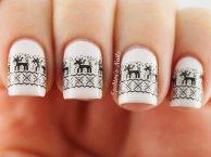 black-reindeer-winter-white-nails