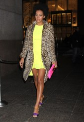 Solange Knowles Steps Out in a Bright Ensemble