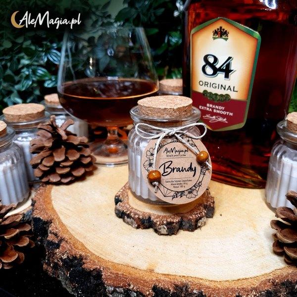 06 / Świeczka Sojowa / Brandy / 60 g / AleMagia.pl