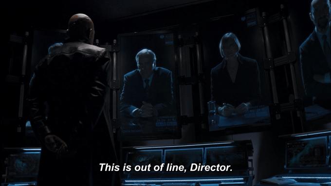 Nick Fury e cara da Hydra de Agents