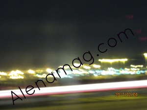 Blurred City scape Highway view