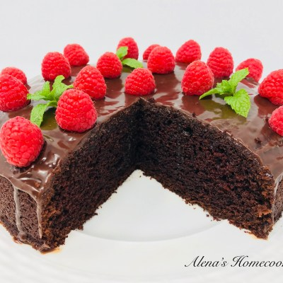 Moist Chocolate Tea Cake -easy as 1,2,3