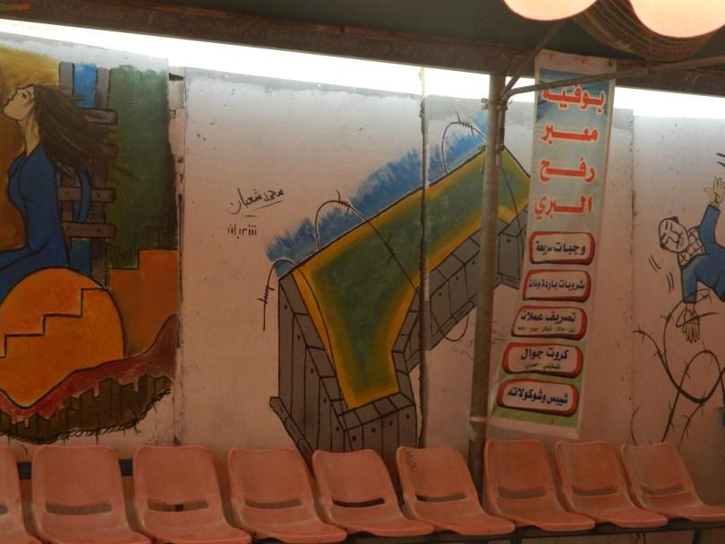 Ces dessins au Terminal de Rafah...
