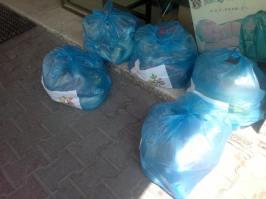 Des colis prêts à être distribués