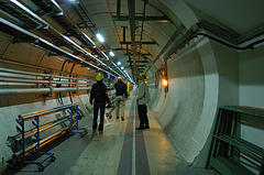 A l'intérieur du collissionneur de particules.