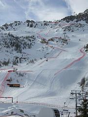 La vertigineuse piste de Val d'Isère a souri aux Suisses