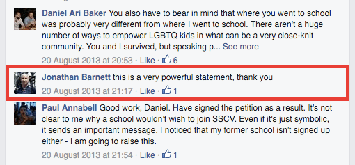 Comment by Jonathan Barnett on letter by Daniel Baker