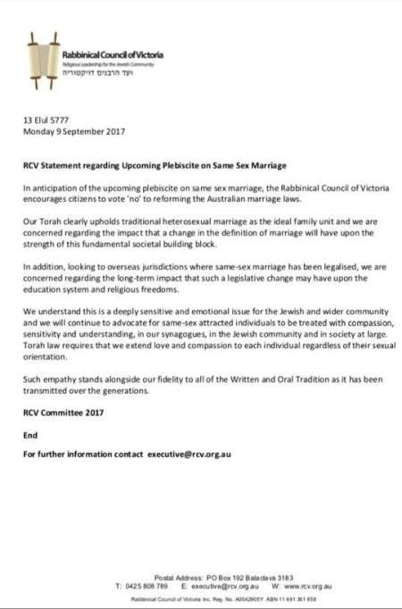20170904-rcv-statement-supporting-no-vote-on-marriage-equality-postal-survey