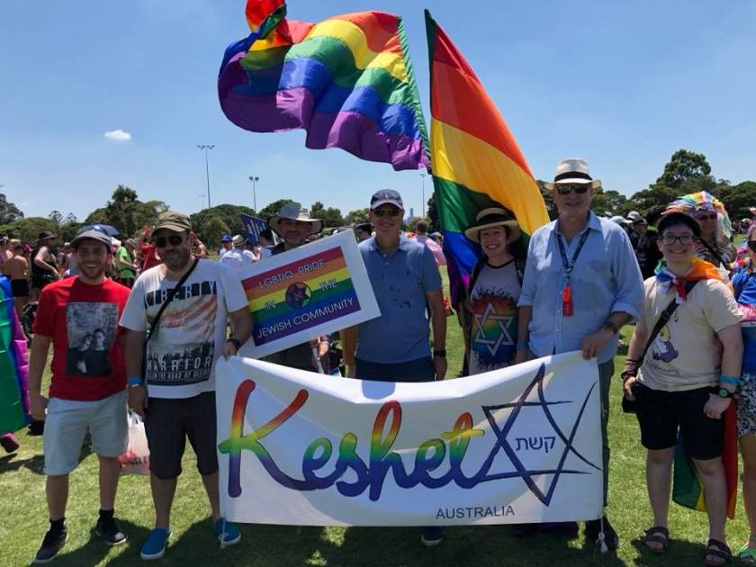 20180128 David Southwick and Jewish LGBTIQ groups at Pride March