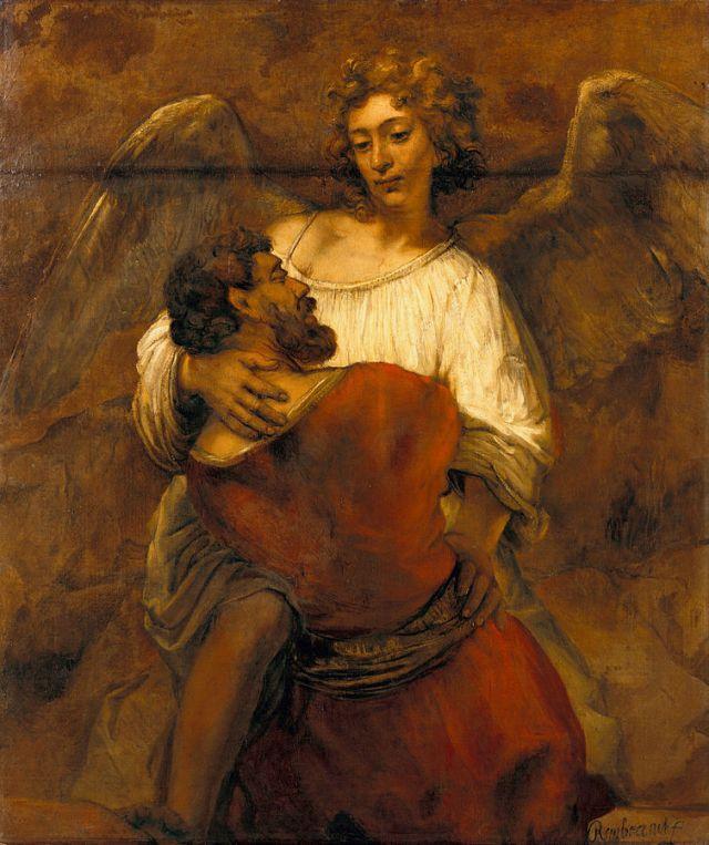 רמברנדט, מאבק יעקב והמלאך 1659 בקירוב