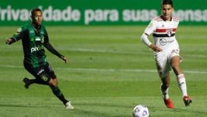 FUTEBOL- São Paulo e América-MG só empatam, e Coelho sai da zona de rebaixamento