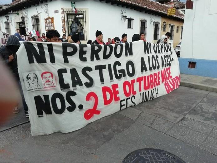 Con marchas recuerdan en Chiapas los 50 años de la masacre estudiantil de Tlatelolco e2334968 a510 44e2 ac7b 67f721b14b44 1