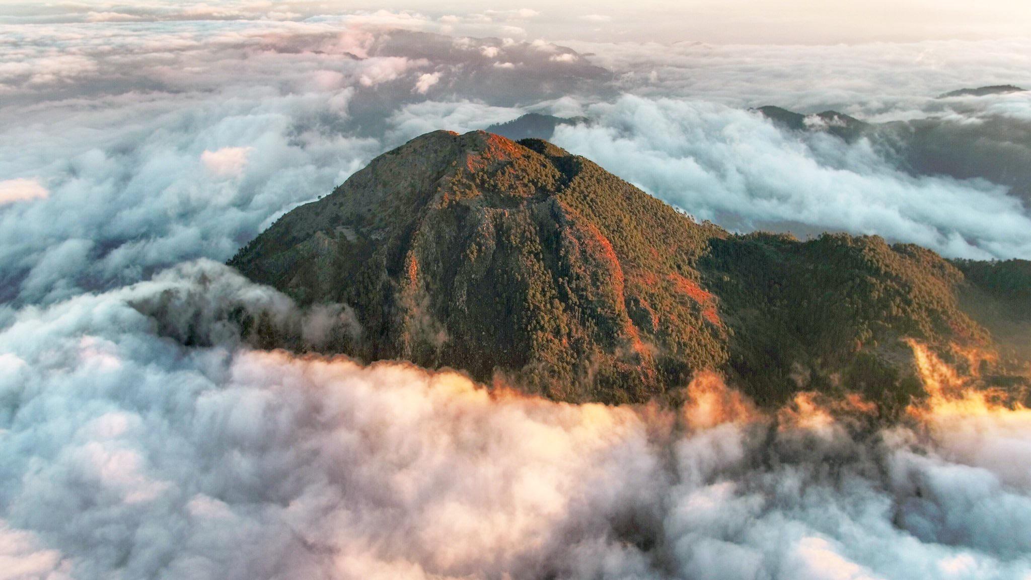 Volcán Tacaná desde las alturas.