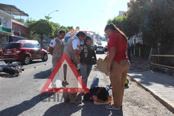 Accidente de tránsito deja un lesionado en Terán img 9993