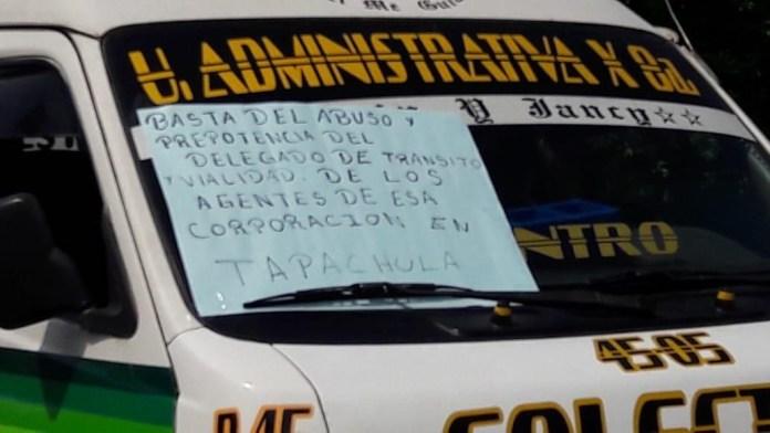 Transportistas exigen que el alcalde de #Tapachula se ponga a trabajar. e8b98553 8003 40e1 b3ef f8a66bebccae