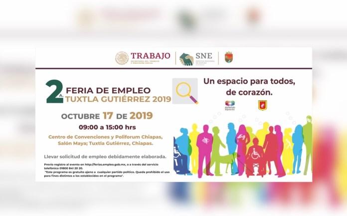 Ofertará Secretaría de Economía y del Trabajo más de mil vacantes