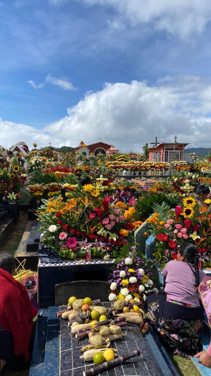 Todas las flores del mundo en el panteón de Zinacantán img 5334