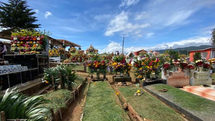Todas las flores del mundo en el panteón de Zinacantán img 5353