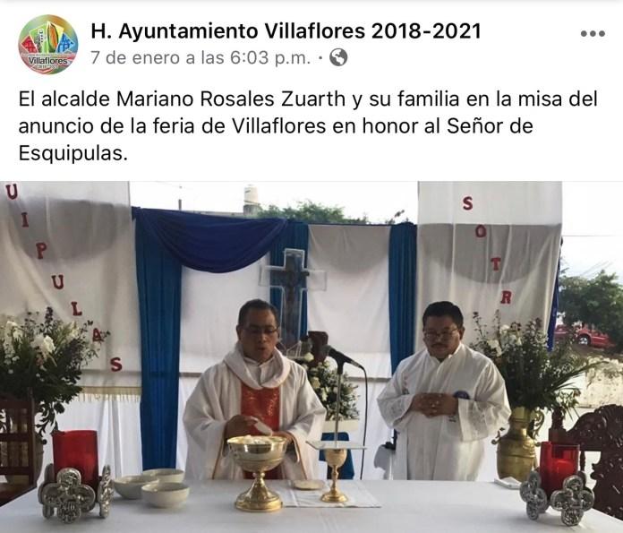 La católica cuenta de facebook del Ayuntamiento de Villaflores IMG 3067