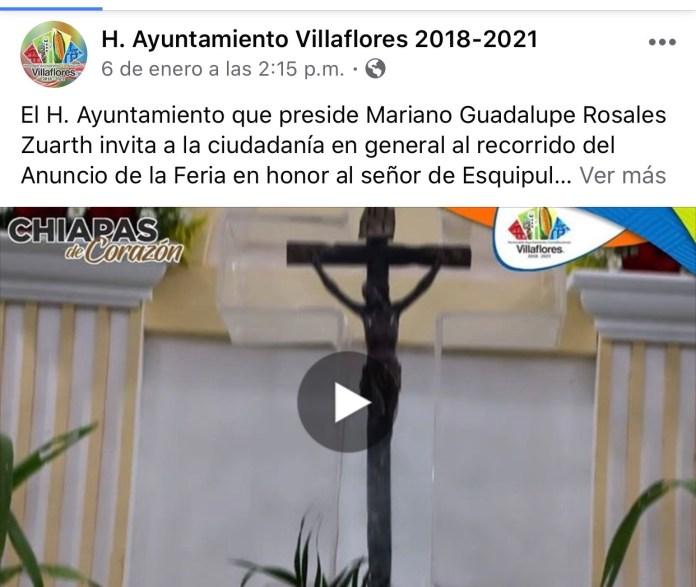 La católica cuenta de facebook del Ayuntamiento de Villaflores IMG 3068