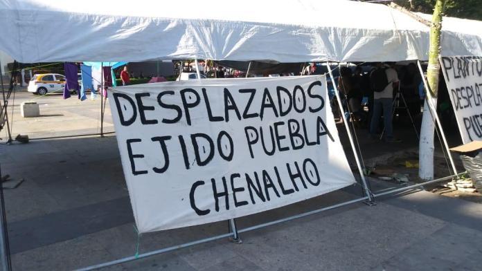 Desplazados de Chenalhó instalan plantón, exigen retorno a su comunidad WhatsApp Image 2020 02 06 at 6.24.23 PM