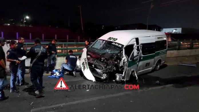 Accidente de colectivo deja dos heridos img 3257