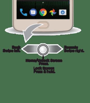 Sensor impressão digital moto