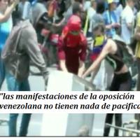"""""""las manifestaciones de la oposición venezolana no tienen nada de pacificas"""""""