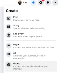 Create-Facebook-group-select-group