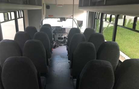 25 Passenger Minibus Inside