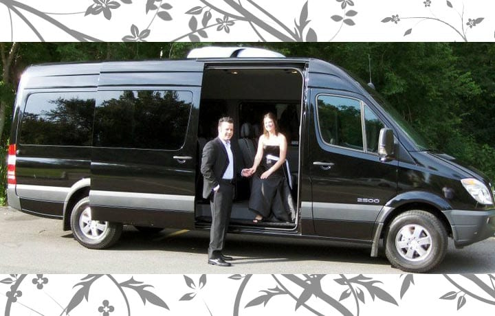 Vans are great for weddings