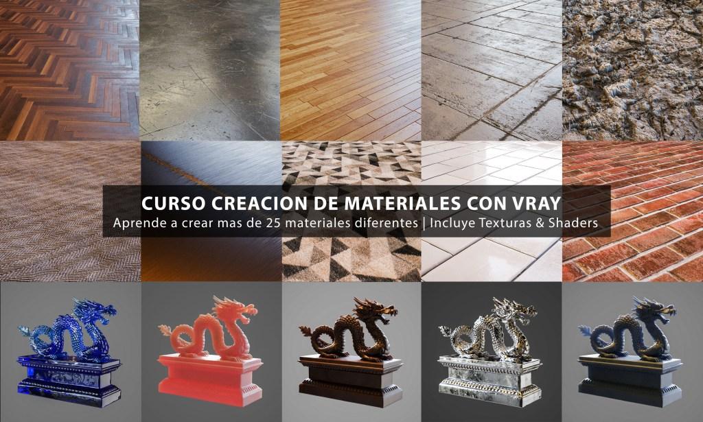 Curso Online Materiales Realistas con Vray, Photoshop y 3dsmax
