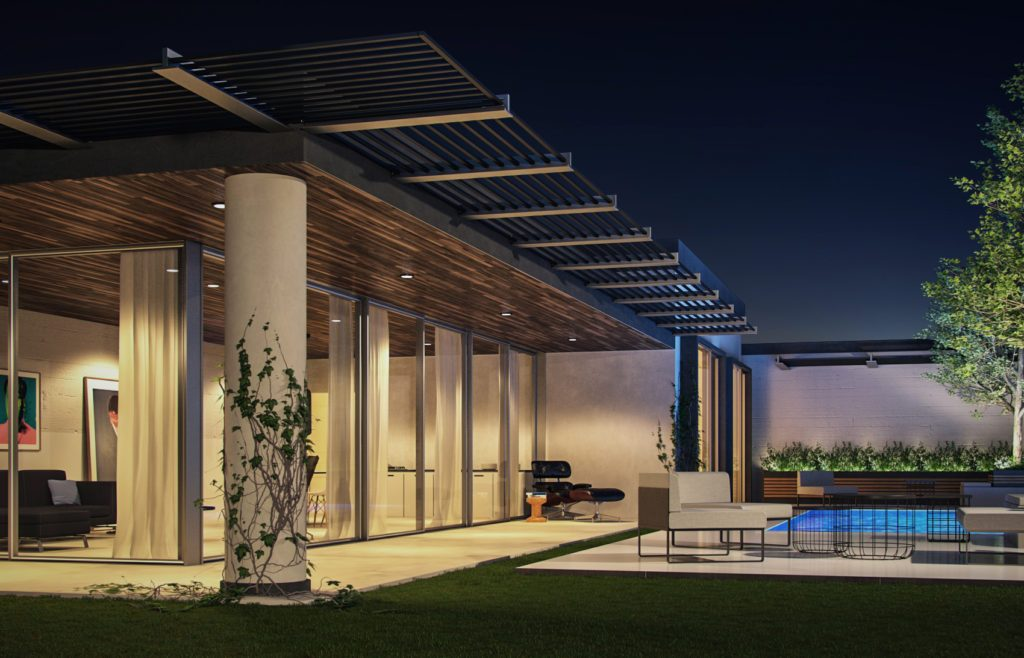 vray night exterior rendering 3d scene download tutorial training