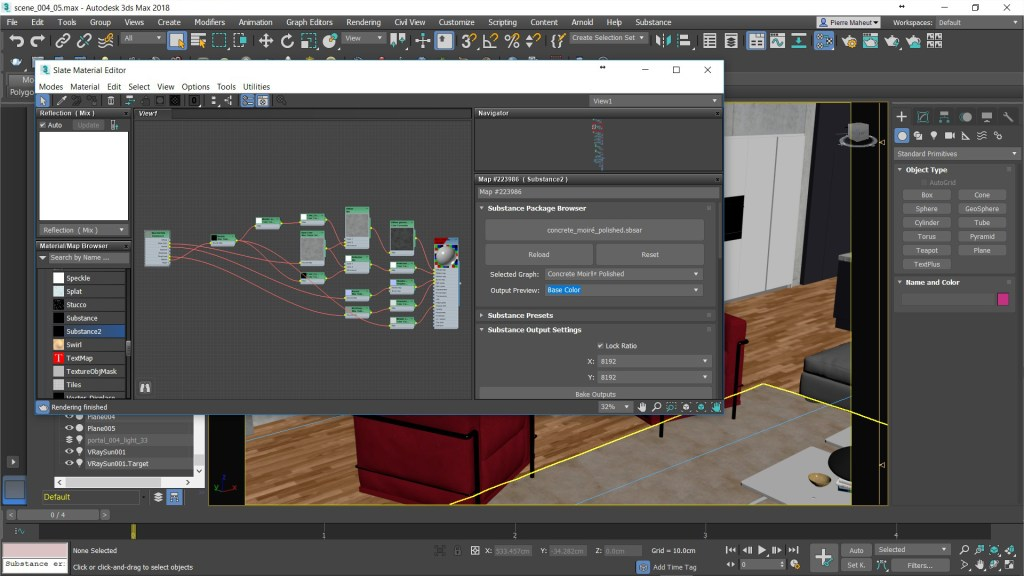 Substance -3ds Max - Slate Material Editor _ Interface