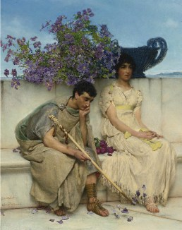 Silenzi Sir Lawrence Alma-Tadema Un Silenzio Eloquente circa 1890