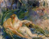 Mito Berthe Morisot - Two Nymphs Embracing (1892)