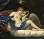 Mito Leda and the Swan probabilmente Pier Francesco Mola
