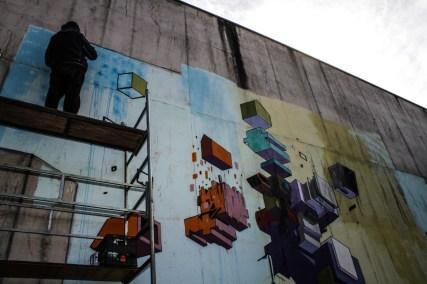 Etnik - work in progress esterno ex-carcere Tirano Photo by Livio Ninni Photographer
