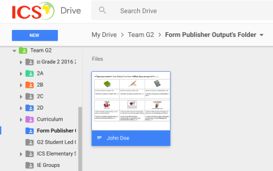 Automatically created Google Doc