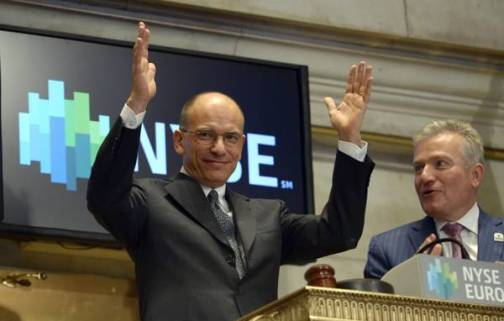 Italian Prime Minister Letta at the NYSE