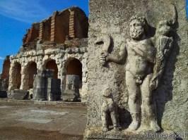 Un bassorilievo raffigurante un gladiatore