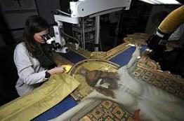 Restauro del crocifisso del Giotto