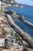 il viale attiguo alla nuova darsena, un camminamento che collegherà Il porto a via Napoli